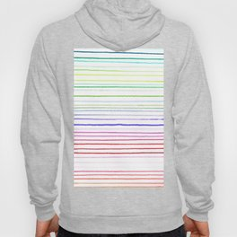 RAINBOW WATERCOLOR LINES Hoody