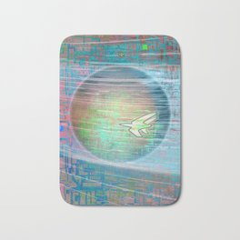 Flying Around the World Bath Mat