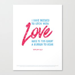 Love (Special Edition) - Martin Luther King Jr. Canvas Print