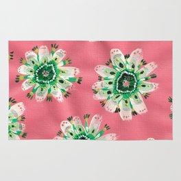 Emerald Lace Rose Rug