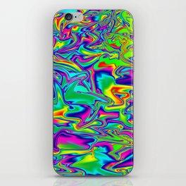 Color Chaos Multi-Colored Digital Illustration - Artwork iPhone Skin