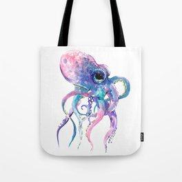 Octopus, Pink purple sea animals design underwater scene painting Tote Bag