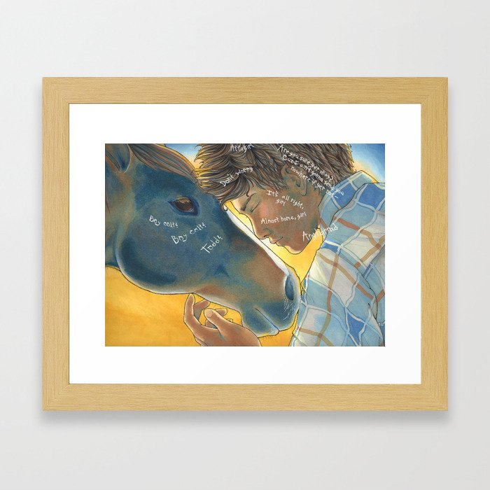 Boy Colt Framed Art Print