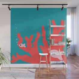 Pantone Living Coral Reef Wall Mural