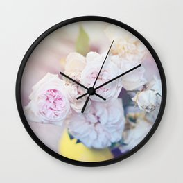 The Last Days of Spring - Old Roses III Wall Clock