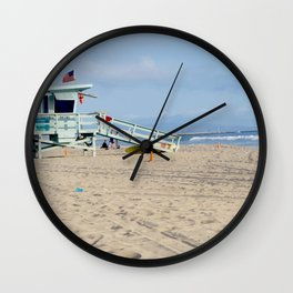 Venice Beach IV Wall Clock