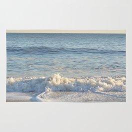 Wave Crashing on Beach in East Hampton Rug