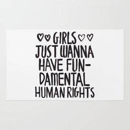 Girls Just Wanna Have Fun(damental Human Rights) Rug