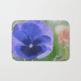 Blue Pansy Bath Mat
