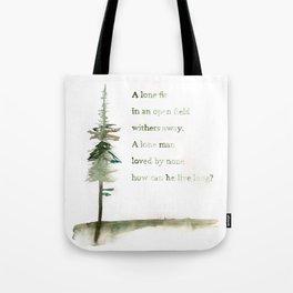 A Viking Proverb - Fir Tree Tote Bag
