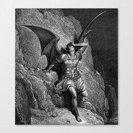 Gustave Dore - Paradise Lost Satan Profile Canvas Print