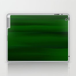 Emerald Green and Black Abstract Laptop & iPad Skin
