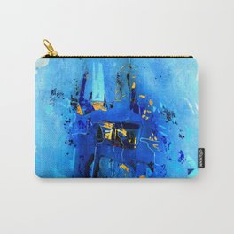 Blue, Black and White Carry-All Pouch