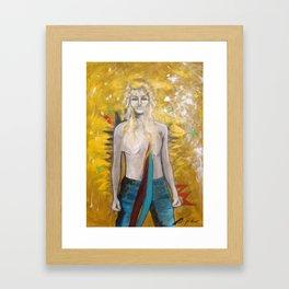Female Warrior Framed Art Print