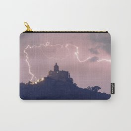 Amazing lightning around the church Carry-All Pouch