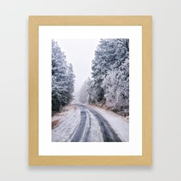 Frosty Backroads Framed Art Print