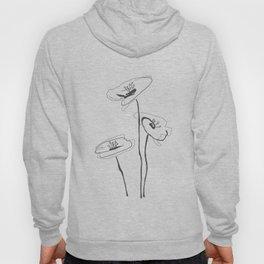 Line Art of Flowers Hoody