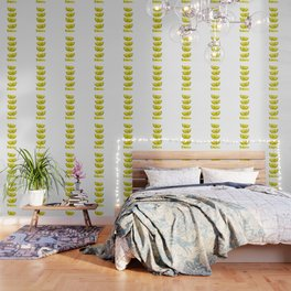 Lemon Slices White Wallpaper