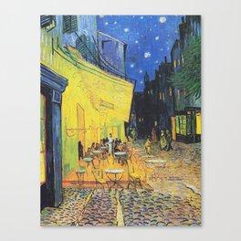 Café Terrace at Night by Vincent van Gogh Canvas Print