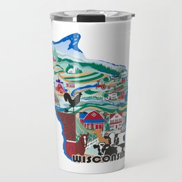 Wisconsin Country Sampler Travel Mug
