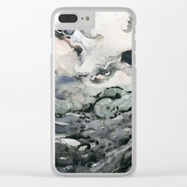 Dark Geode Clear iPhone Case