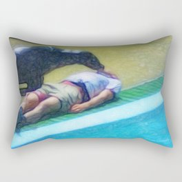 Animal save the human Rectangular Pillow