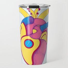 Yellow Submarine Heart Travel Mug