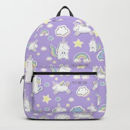 I'm a Unicorn - purple Backpack