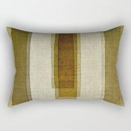 """""""Burlap Texture Greenery Columns"""" Rectangular Pillow"""
