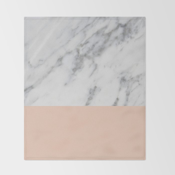Blush Pink Throw Blanket Classy Marble And Blush Pink Throw Blanket By Hellograce Society60
