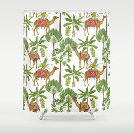 Camels and palms Shower Curtain