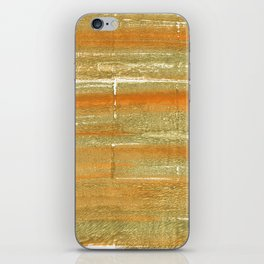 Aztec Gold abstract watercolor iPhone Skin