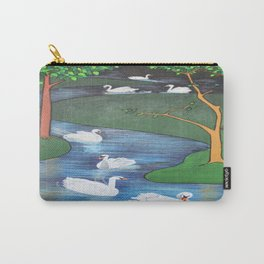A Flock of Seven Swans-A-Swimming Carry-All Pouch