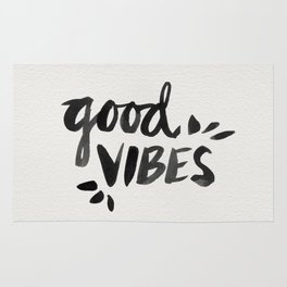 Good Vibes – Black Ink Rug