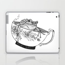 Pacific Northwest Tree Frog Riding in a China Teacup Laptop & iPad Skin