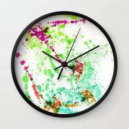 Screamin' Green - Splatter Style Wall Clock