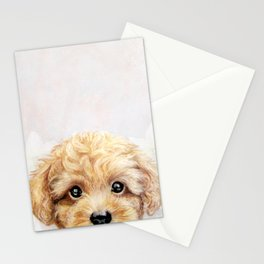 Toy poodle Dog illustration original painting print Stationery Cards