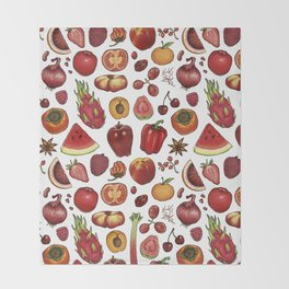 Red Food Throw Blanket