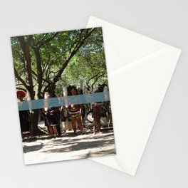 Line of People Stationery Cards