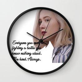 SKAM - Noora - Everyone is fighting a battle 2 Wall Clock