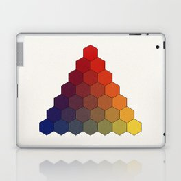Lichtenberg-Mayer Colour Triangle (Tobiae Mayeri, Opera inedita - Vol. I, plate III), 1775, Remake Laptop & iPad Skin