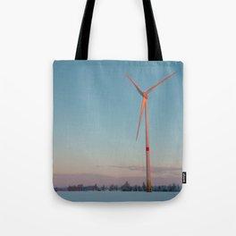 Wind Turbine at dawn Tote Bag