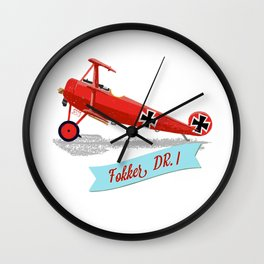 Red Baron's Fokker Dr.I Wall Clock