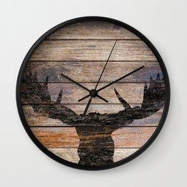 Rustic Black Moose Silhouette A424b Wall Clock