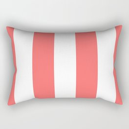 Classic Modern Retro 60s Red Stripe Pattern Rectangular Pillow