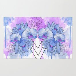 Flower Explosion - Blue/Purple Rug