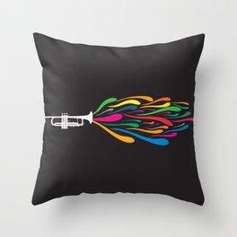 A Trumpet Throw Pillow