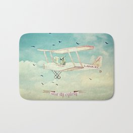 Never Stop Exploring III - THE SKY Bath Mat