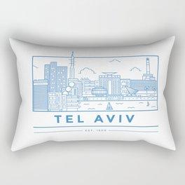 Tel Aviv line art Rectangular Pillow