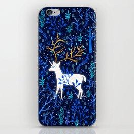 Deericorn In Blue iPhone Skin